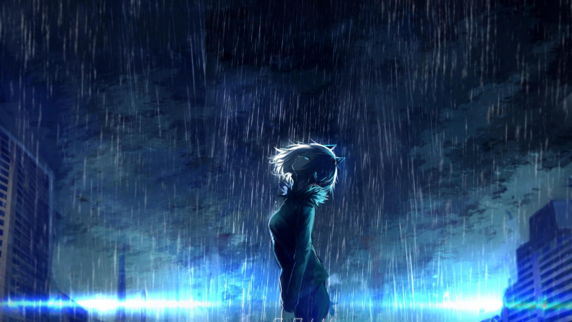 Free download Download 2560x1440 Anime Girl Scenic Raining ...