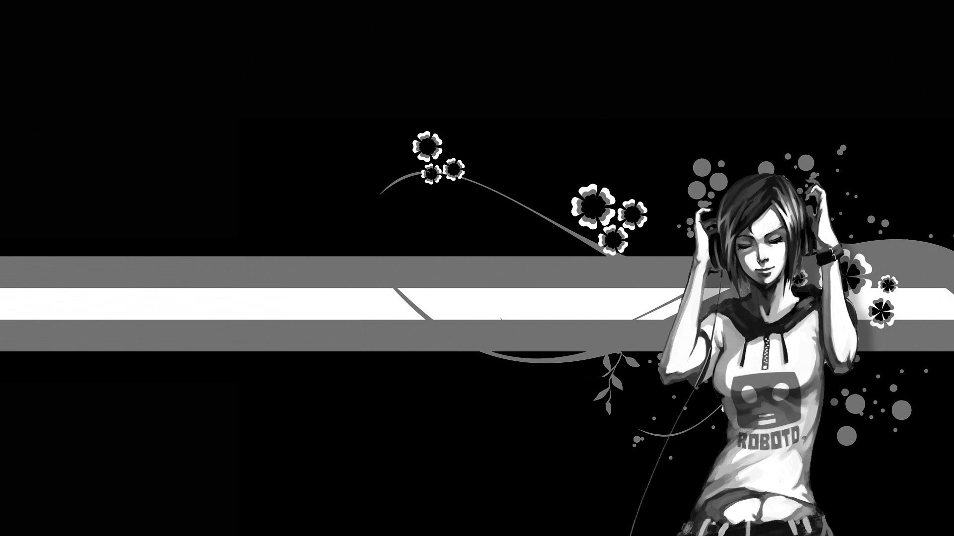Free Download Black And White Girly Wallpapers Myspace Black And