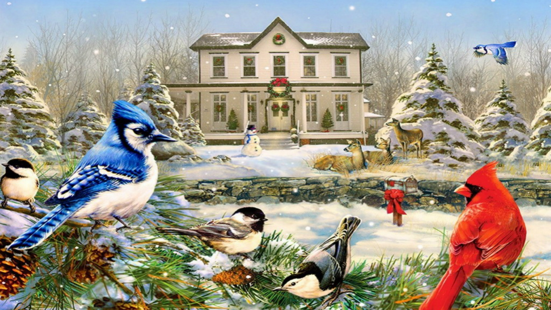 Old Fashioned Christmas Wallpapers Merry Christmas 1920x1200. Download resolutions: Desktop: 1920x1080 ...