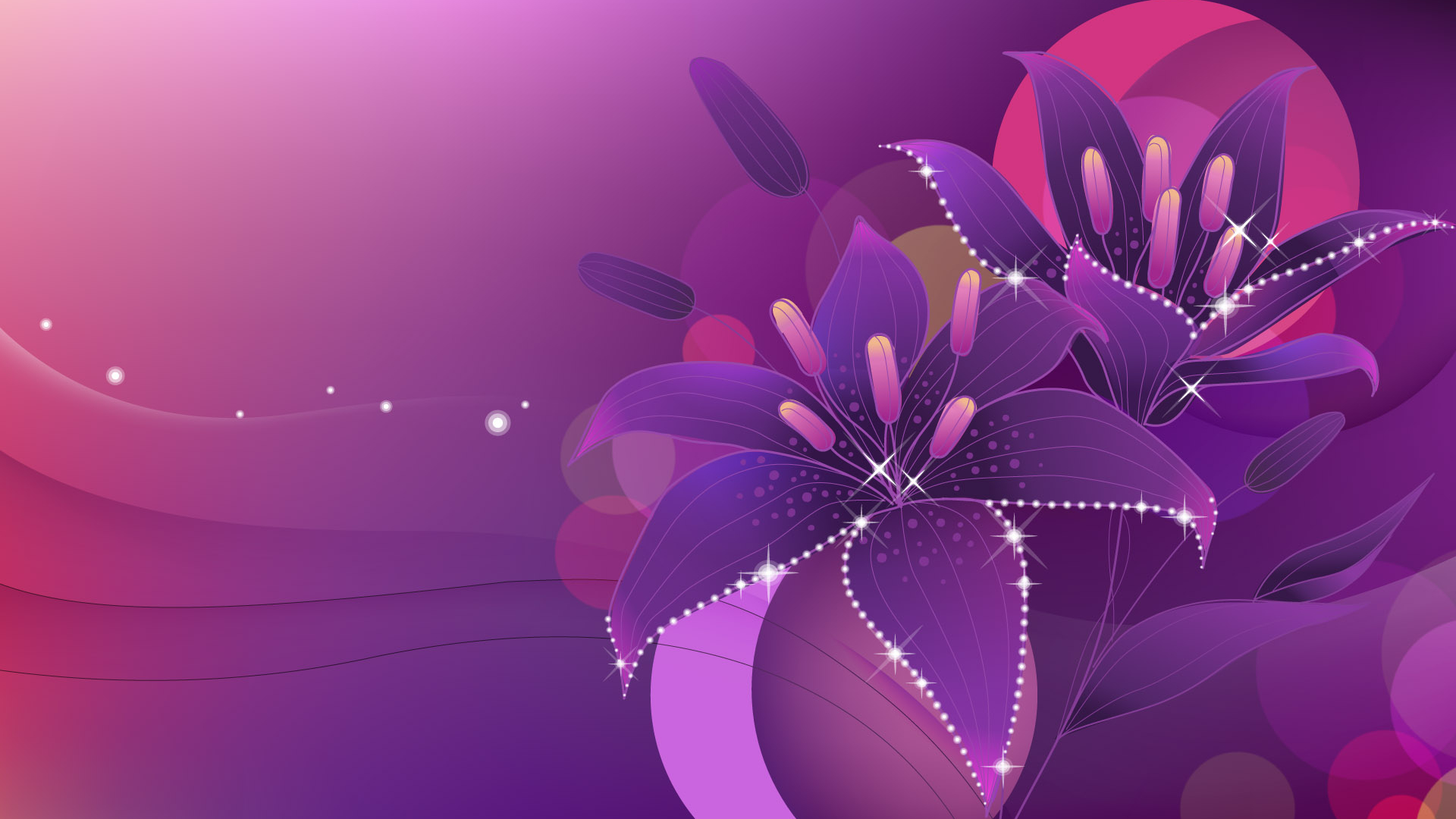 Free Download Purple Floral Abstract Wallpaper Abstract Wallpapers