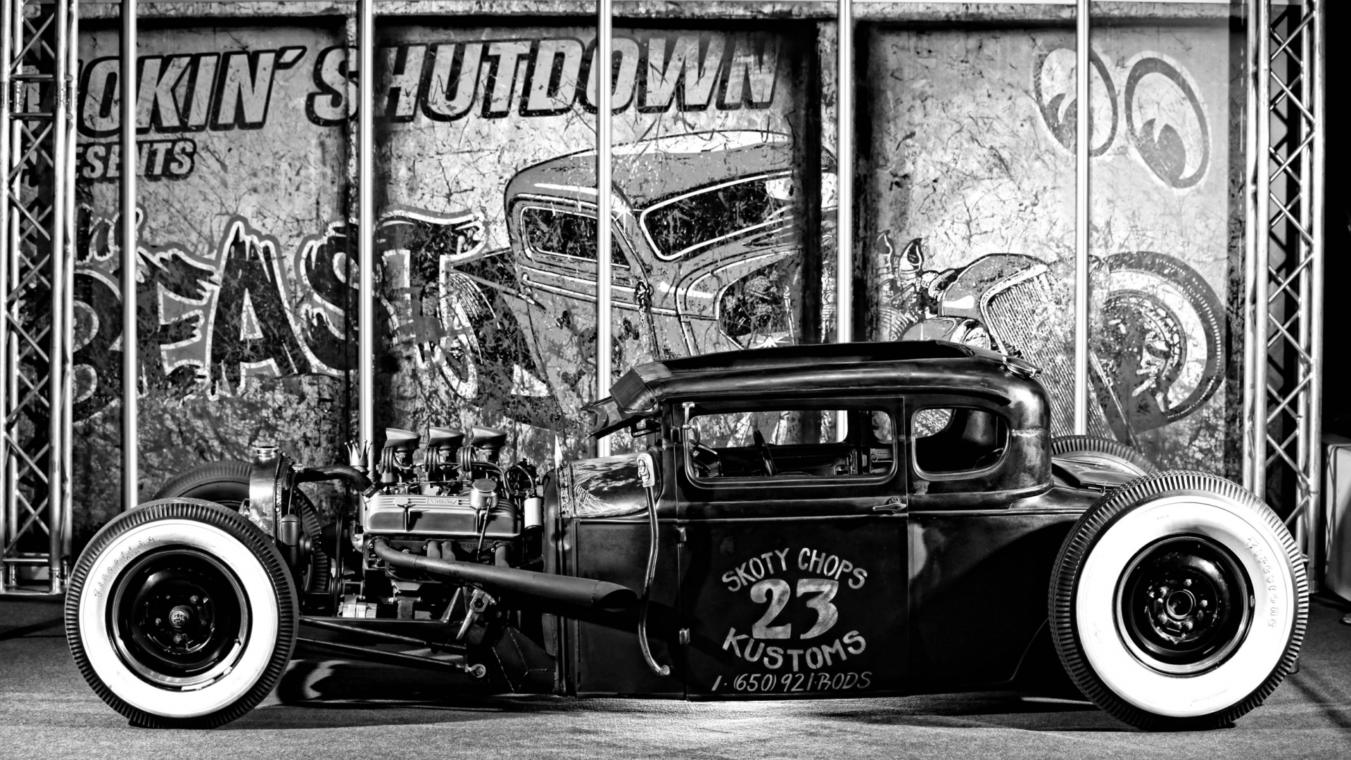 Free Download Rat Rod Pin Up Wallpaper Picswallpapercom 2514x1414