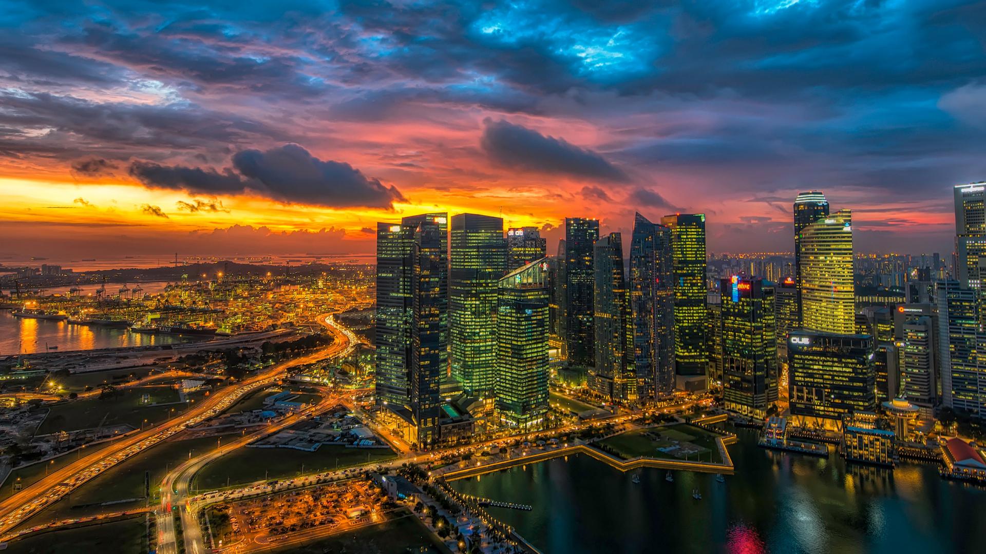 Free download Glowing Singapore 219 Wallpaper Ultrawide ...