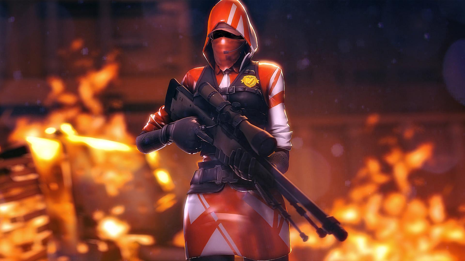 Free Download 2048x1152 Ace Sniper Rifle Fortnite Battle