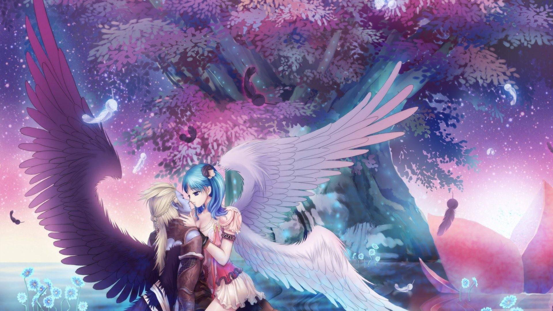 Free Download Beautiful Angel Romance Anime Amp Manga Wallpaper