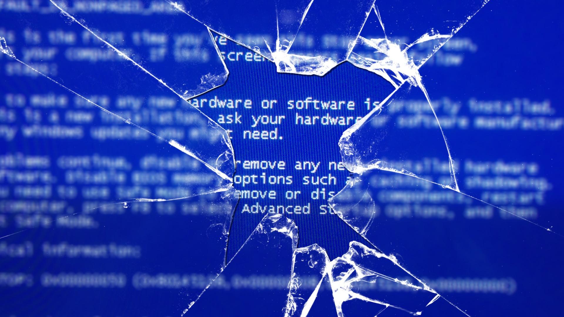 Free Download Broken Error Windows Death Screen Glass Broken
