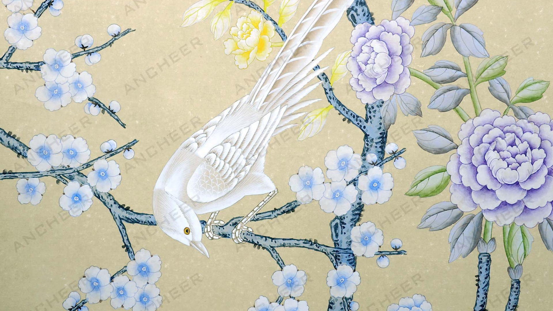 Free Download Hand Painted Wallpaper Chinoiserie Wallpaper