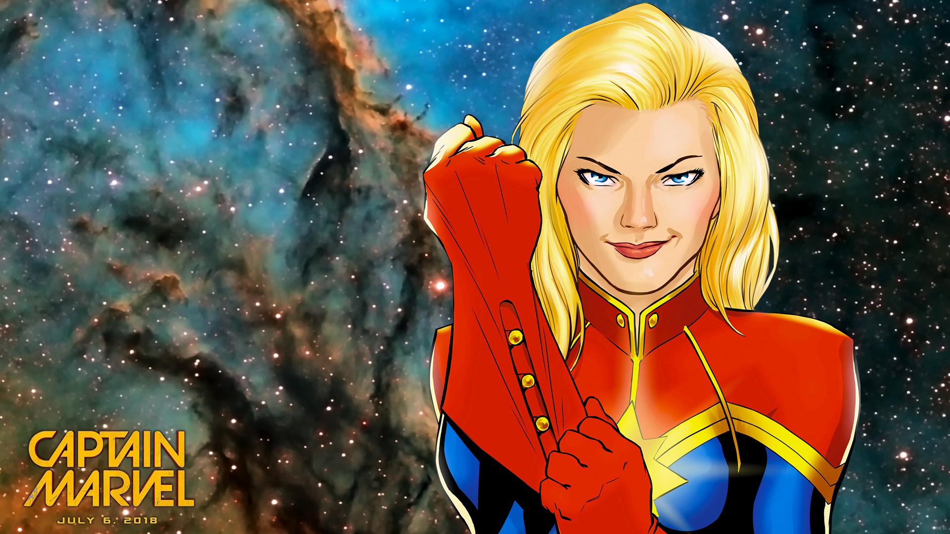 Download Hd Wallpapers 1080p With Superheroes Captain Marvel 13