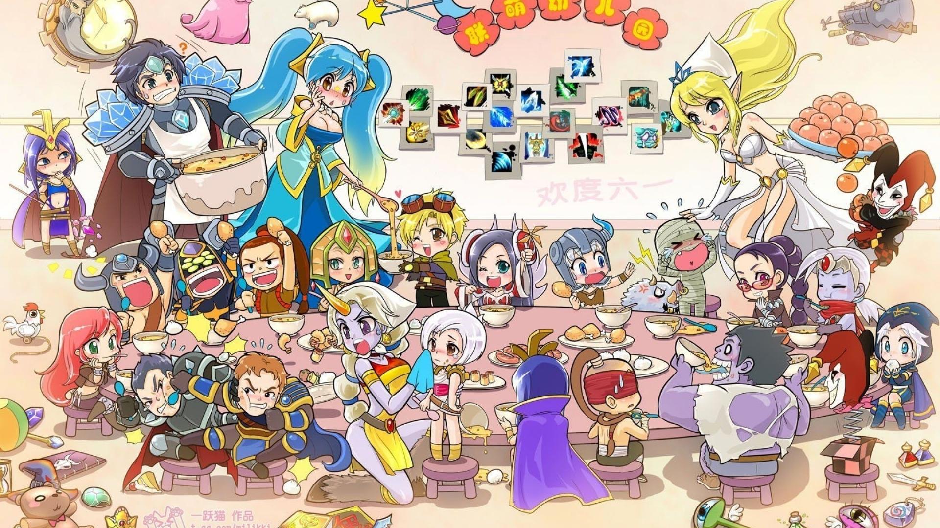 Free Download Video Games Chibi League Of Legends Soraka Shaco