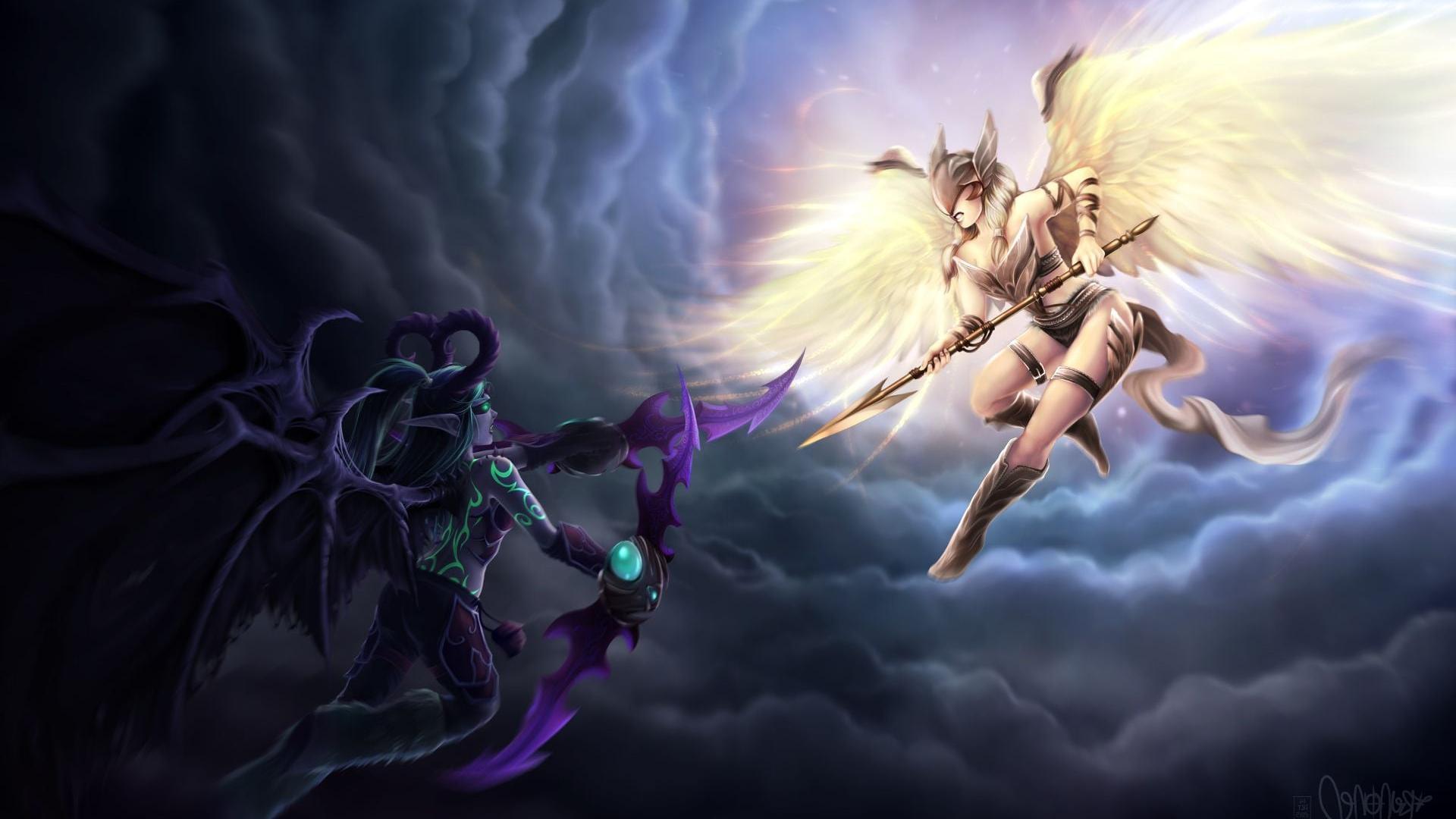 Free Download Wallpaper Of Demon Hunter World Of Warcraft Legion