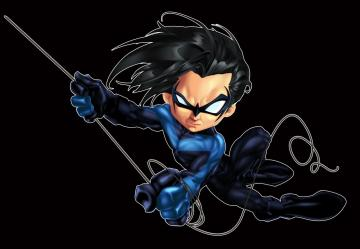 Nightwing Chibi color by Gnargleboy