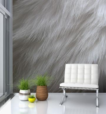 Furry Wallpaper For Bedrooms Fur wallpaper mural