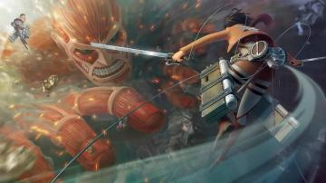 fighting titan attack on titan shingeki no kyojin anime hd wallpaper