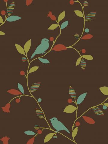 Chic Bird Trail design from Sandpiper Studios Eco Chic wallpaper