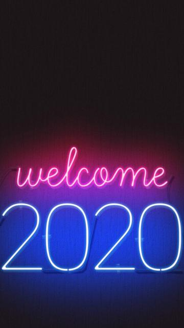 Download Welcome 2020 Happy New year Mobile Wallpaper for your