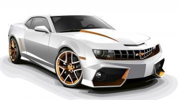 Chevrolet Camaro White 3D HD Car Wallpapers HD Wallpapers