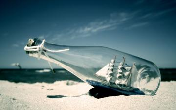 Beach Ship Desktop Wallpapers Bottled Beach Ship Desktop Backgrounds