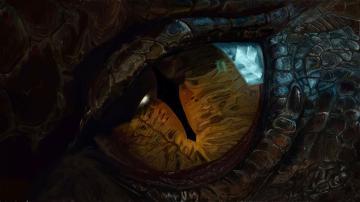 Hobbit 3 Eye Smaug Wallpaper HD 1920 x 1080