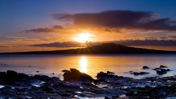 download Romantic sunset wallpaper desktop background in 1600x900