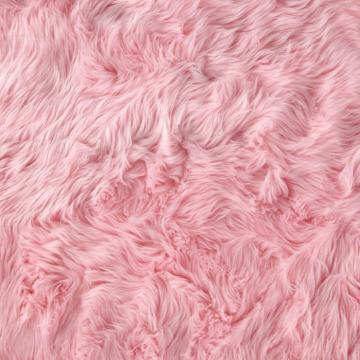 Faux Fur Luxury Shag Baby Pink from fabricdotcom This super soft high