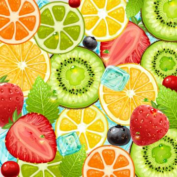 Summer Fruits backgrounds vector 04   Vector Background Vector Food