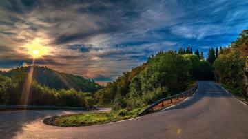 Wallpaper 3840x2160 Sunset Serpentine Road 4K Ultra HD HD Background