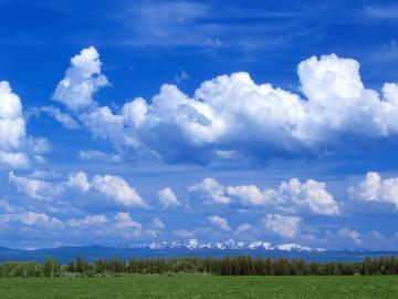 Download HQ Partly Cloudy Near Joseph Oregon Clouds Wallpaper