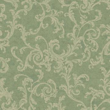 Green and Cream Textured Scroll Wallpaper   Wall Sticker Outlet
