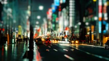 wallpapers city night hd at street lights 1366x768 iwallhd wallpaper