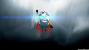 Minions 2015 Movie The Superman HD Wallpaper   StylishHDWallpapers