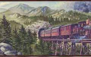 train wallpaper border Mountain Train Wall Border Mountain Train Wall