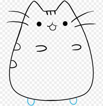 how to draw pusheen the cat   pusheen the cat drawings PNG image