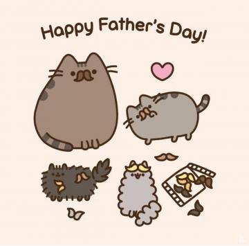 FATHERS DAY WITH PUSHEEN Pusheen cat Pusheen cute Pusheen stormy