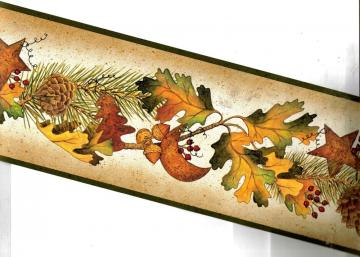 Autumn Leaves Pinecones Acorns Hearts Wallpaper Border TC48042B eBay