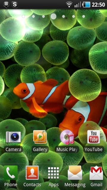 Apple Clownfish Live Wallpaper Android Themes best android apps