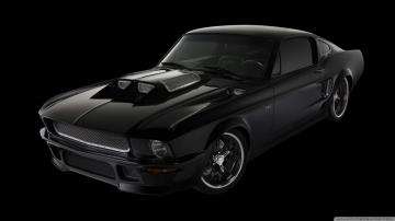 black ford mustang wallpaper 1600x900   black ford mustang wallpaper