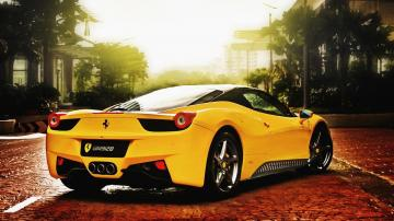 Super Yellow Ferrari HD Wallpaper   HD