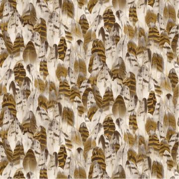 Natural Feathers Bird Feather Motif Pattern Vinyl Wallpaper J64108