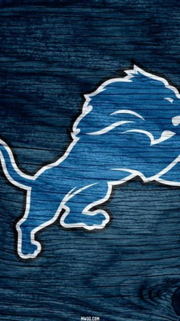 Detroit Lions Blue Weathered Wood Wallpaper for iPhone 5