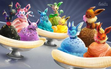 Eevee Banana Splits by TsaoShin
