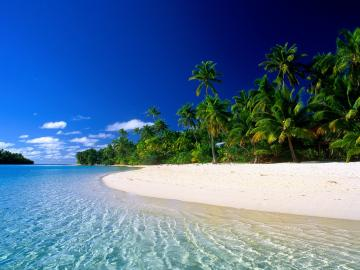 Wallpaper Of Beach A Quiet Beach In Cook Islands Wallpaper