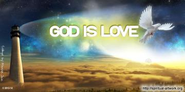 God Is Love Spiritual Artwork
