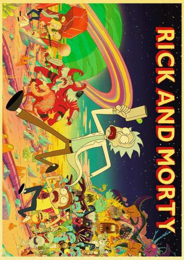 Rick And Morty Theme 2020 Retro Poster Retro poster Rick and