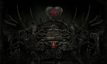 Download Dark Love Heart Evil Sci Fi Mech Gothic Wallpaper Background