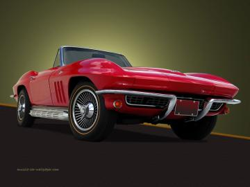 Red Corvette Wallpaper WallpaperToon
