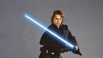 Download 1920x1080 Anakin Skywalker With Jedi Lightsaber Wallpaper