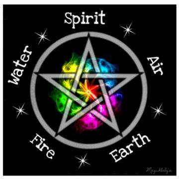 Pagan Wiccan Elemental pentagram Bibbity Bobbity Boop Pinterest