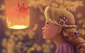 Tangleds Rapunzel Disney cartoon illustration HD Wallpaper HD