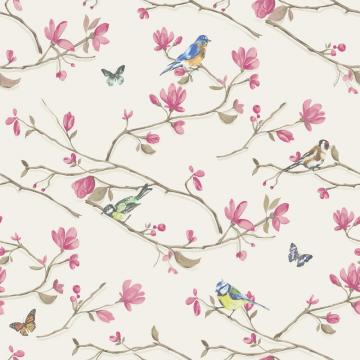 Dcor Kira Bird Butterfly Pattern Floral Flower Motif Wallpaper 98121