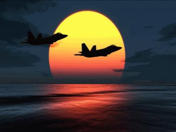 File Name F 22 Raptors Over Sunset HD Wallpaper