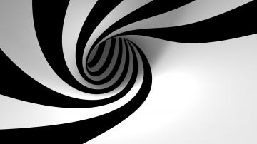 Download 3D Black White Spiral Wallpaper Wallpapers